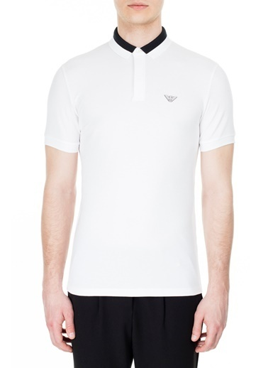 Emporio Armani  Polo T Shirt Erkek Polo 3H1F84 1J46Z 0100 Beyaz